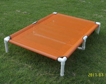 "Large Dog Bed, Large Breed Dog Bed, Custom Made Dog Bed Pipe Cots, Waterproof Dog Beds, 15 Canvas Or 11 Mesh Colors 39""x56""  1 1/2"" PVC Pipe"