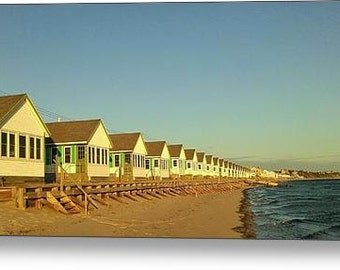 Cottages - 14 x 30 Fine Art Canvas Print, Cape Cod, Provincetown, Photograph, Wall Art