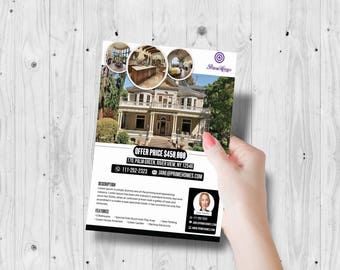 Real estate flyer, real estate flyers, real estate prints, real estate, real estate marketing, open house sign, marketing flyer, business