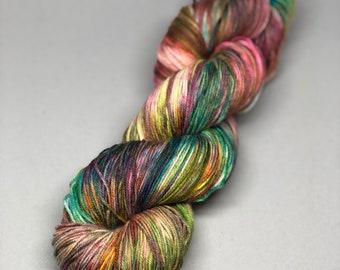 flagrant mayhem - Hand Dyed Sock Yarn - Fancy Sock  - 75/25 Superwash Merino/Nylon {flagrant mayhem} speckled indie dyed