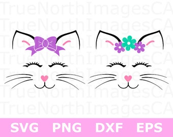 Cat SVG / Cat Head SVG / Cat Face SVG / Cat Clipart / Cat Vector / svg Files for Cricut / Silhouette Files