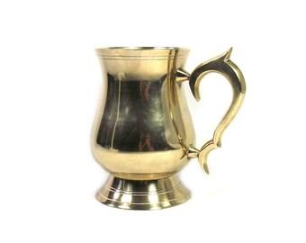 Vintage Brass Tankard, Brass Mug, EPNS Tankard, Brass Decor, Brass Kitchen Decor, Brass Gift, Christmas Gift for Him, EPNS Mug, Brass Cup
