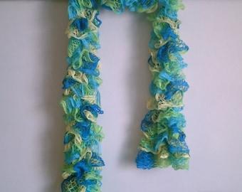 Knit Ruffle Scarf in 'Summer Breezes'