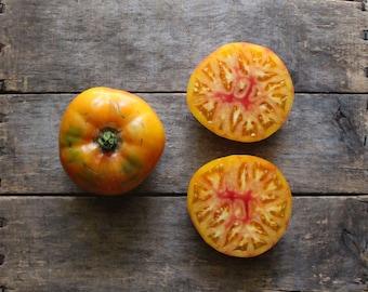 Mr. Stripey Tomato, organic vegetable seeds, heirloom tomato seeds, organic vegetable garden, gardener, organic tomato seeds, gardening