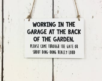 Working In The | Garden | Shop | Business | Door Sign | Notice | Customised | Personalised | Be Right Back | Just Popped Out | Closed | Open