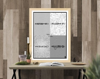 Sonic Screwdriver Catchprase Art | Printable Art | Doctor Who | Whovian | Word Art | Fantastic | Allonsy | Bow Ties are Cool | Hello Sweetie
