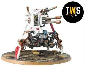 Warhammer 40k, Skitarri, Adeptus Mechanicus, Onager Dunecrawler, Commissioned Painting Services, Table Top Standards, Wargaming, Wargames