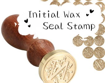 Clearance-Retro Wood Classic 24Letter A-Z Alphabet Initial Sealing Wax Seal Stamp Post Decorative (DIY Sealing Stamp For Wedding Invitation)