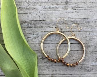 upcycled / repurposed hoop earrings.