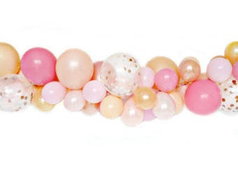 Stunning Balloon Garland. Wedding. Party. Baby Shower. Christening. Hen Party Pinks and golds