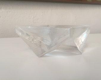 Mid Century Geometric Glass Ashtray