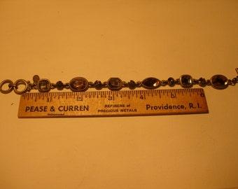 """7"""" Orange Rhinestone Bracelet(473)"""