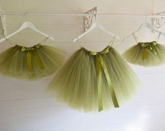 Girls tutu skirt, flower girl dress, tutu skirt, green tutu, flower girl tutu, baby tutu, tulle skirt, tulle tutu, birthday party outfit