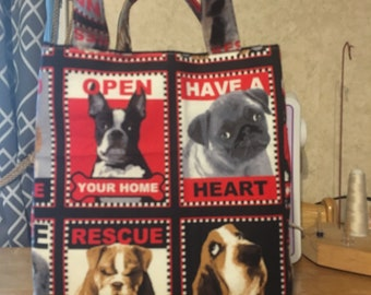 Rescue dogs tote/trick-or-treat bag