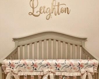 Lovely Nursery Decor Girl   Nursery Name Sign   Wood Letters   Nursery Art Girl    Nursery