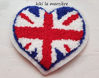 patch, applique, patch Terry heart flag Kingdom has sewing