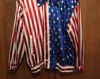Red white and blue Jacket Jackets Galore American Jacket Costume