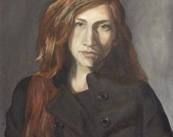 "Fiona Original  Oil Painting Portrait 16x20"""