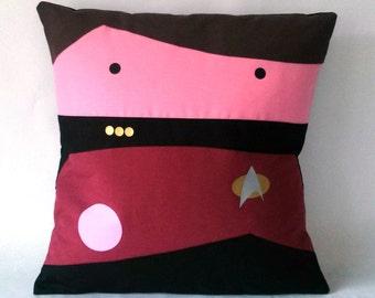 Star Trek TNG inspired William Riker pillow cushion cover 40x40 cm 16x16 inches
