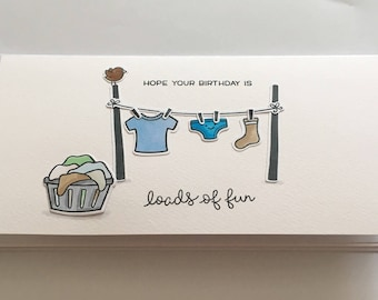 Hope your Birthday is loads of fun, Birthday card ideal for sons and husbands etc
