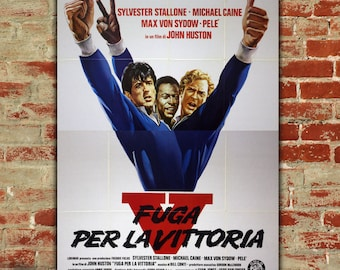 Original Movie Poster Victory - 140x200 CM - Sylvester Stallone - Pelè - Michael Cane