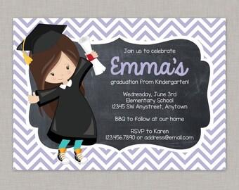 Kindergarten Graduation Invitation, Preschool Graduation Invitation, Graduation Invitation