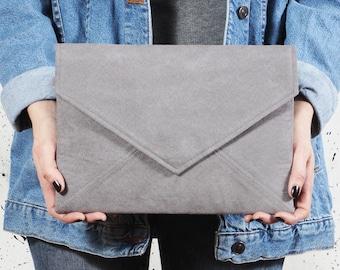 Grey clutch bag Vegan small bag Grey envelope clutch Small crossbody bag Wedding clutch Bridesmaid clutch Bridesmaid gifts Grey vegan bag