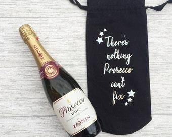 Prosescco Wine Bottle Cotton Gift Bag