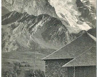 Le Dauphine, France, La Grave vue de la Meije,   circa 1910 Unused Postcard