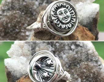 Sun and Moon Reversible Ring