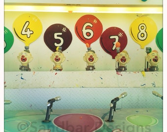 4 x 4 photo card-Clown Balloon Game