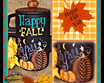 Apple Tree Cottage Original Design E Pattern - Happy Fall Y'all