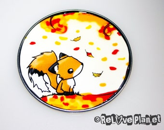 "Fall FOX Large 3"" MAGNET - kawaii Animals Happy - ReLove Planet"