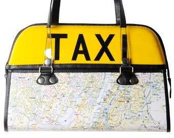 New York city taxi handbag, FREE SHIPPING, NYC lovers lover subway map wall street nueva Manhattan fifth avenue yellow cab empire state fans