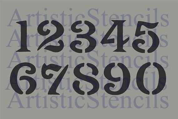 PLANTILLA Numeros 3 Pulgadas Vintage Font Oly