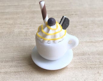 1or2 sets Miniature Coffee Cup,Miniature Coffee,Miniature Capuchino,Dollhouse Sweet,Dollhouse Chocolate,Miniature food