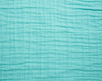 Swaddle Blanket- Turquoise -Double Gauze -Teal/Mint/Aqua Muslin Swaddle Baby Blankets