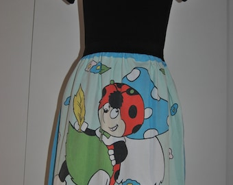 Cute Cococinel Lady Bug A-Line Skirt Size 36/38