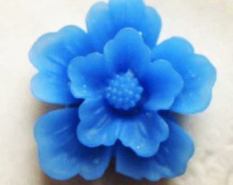 12 pcs of sakura flower cabochon-22mm-rc0166-41-carpi blue