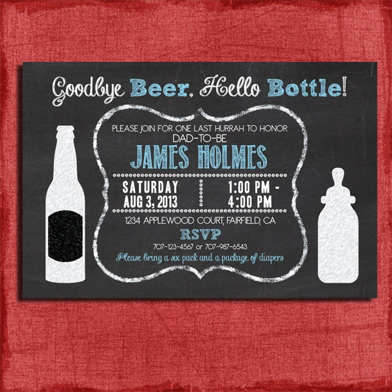 Printable beer and diaper baby shower invitation set invite printable beer and diaper baby shower invitation set invite diaper raffle ticket book request chalkboard style i design you print filmwisefo Images