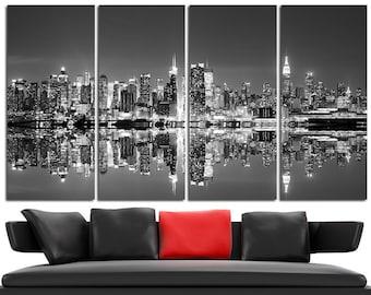 New York Canvas Wall Art Set Cityscape Wall Art New York Canvas Art Cityscape Canvas Print Cityscape Wall Decor New York Poster Skyline