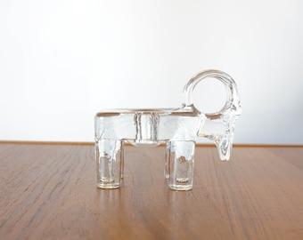 Kosta Boda Sweden Bertil Vallien Glass Ram Candleholder