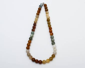 Use Code NEXT0RDER to get 10% off+ Free Shipping-  Jade Necklace, Jadeite Beads, Multi Colored Necklace, Nephrite Beads, Large Bead Necklace