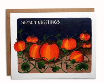Season's Greetings Pumpkin Patch