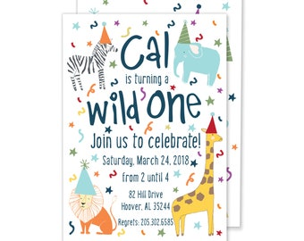Wild One Birthday Party Invitation // Digital File