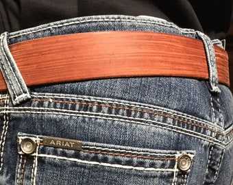 Men's Distressed Leather Belt with Buckle - Boys Dress Belt - Brown Leather - Handmade Dress Belt