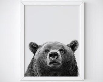 Bear Print - bear wall art - Nursery Print - bear decor - Scandinavian Print - Nursery Decor - bear art - Nordic Print - bear printable -