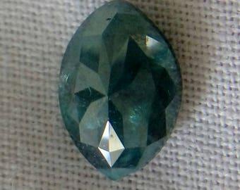 Rustic Greenish Blue Marquise Rose Cut Diamond
