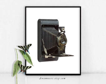 FOLDING CAMERA - digital download - printable vintage camera image by Anamnesis - image transfer - totes, pillows, prints, clothes