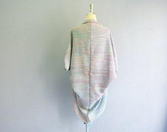 waterfall coat,Boho shrug,woven bolero,woven poncho,boho,cotton woven cocoon,woven cape,Boho Clothing,cape,kimono shrug, oversize shrug